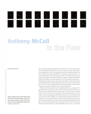 Anthony McCall in the Flow